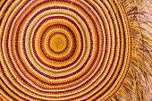 Detail of pandanus palm fibre mat