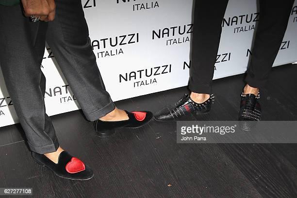 Detail of Pasquale Junior Natuzzi and Mauro Porcini attend the Natuzzi Presents The US Debut Of Intro By Fabio Novembre at Natuzzi Showroom on...