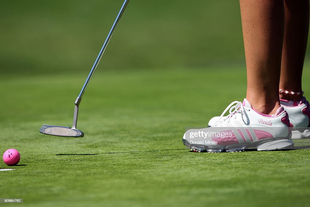A detail of Paula Creamer putting on the 6th hole during the final round of the LPGA Samsung World Championship on September 20 2009 at Torrey Pines...