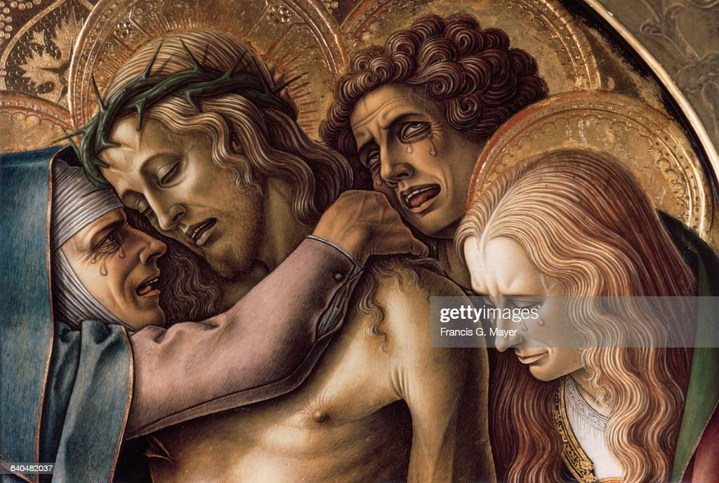 Detail of Pieta by Carlo Crivelli