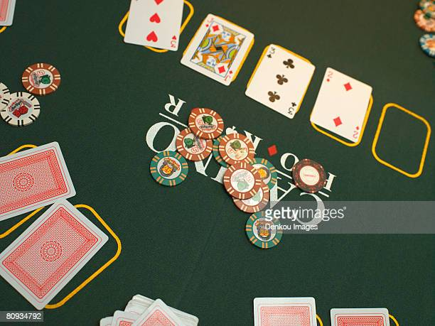 Detail of poker game