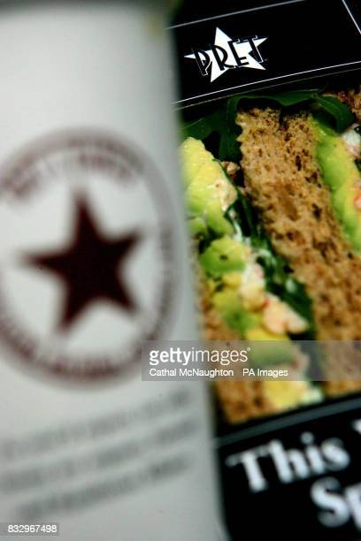 Detail of products from sandwich shop Pret A Manger