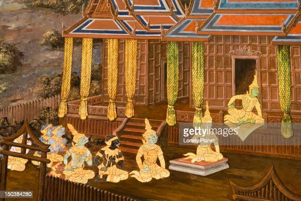 Detail of Ramayana mural, Wat Phra Kaew.