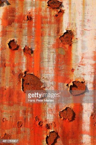detail of rust on metal
