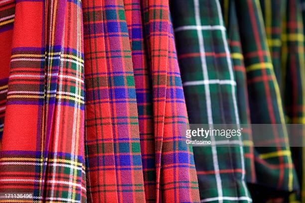 Détail de vêtements de kilt écossais