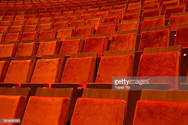 Detail of seats in a theater
