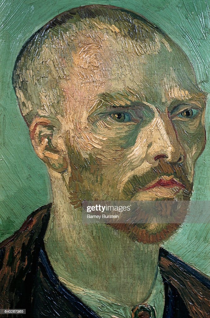Detail of Self-Portrait by Vincent van Gogh