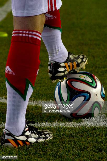 Detail of shoes during the Internatinal friendly match between Mexico and Portugal at Gillette Stadium on June 06 2014 in Foxborough United States