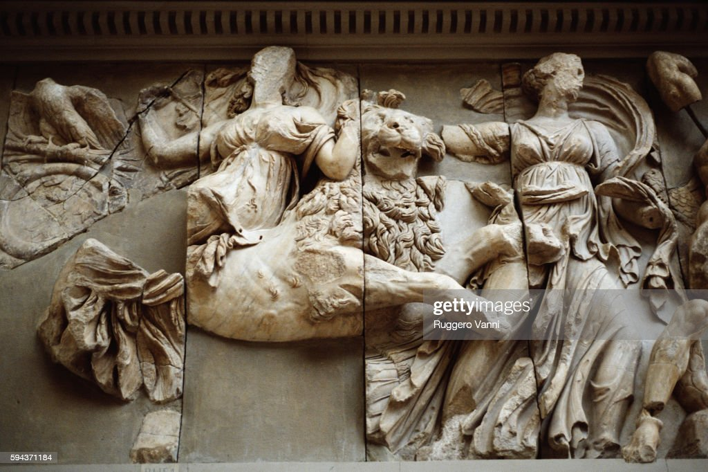Detail of South Frieze of Great Altar of Pergamon
