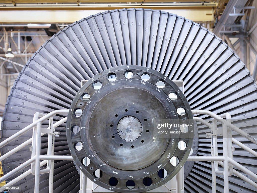 Detail of steam low pressure steam turbine under repair