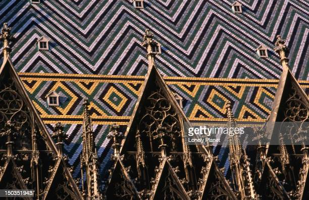 Detail of Stephansdom Cathedral roof.