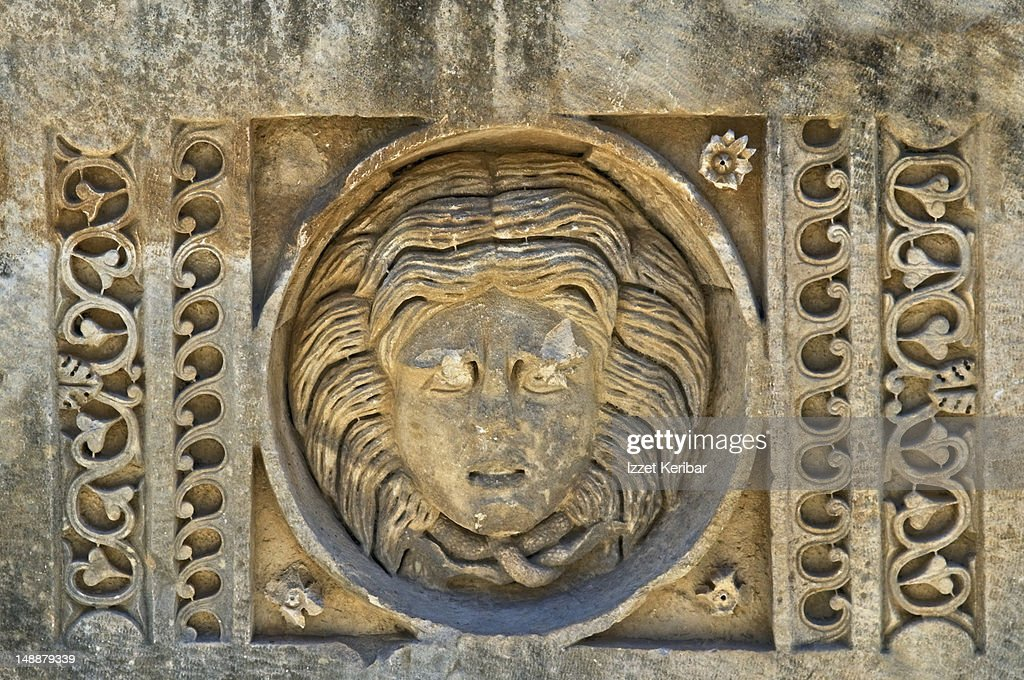 Detail of stone carving at myra stock photo getty images