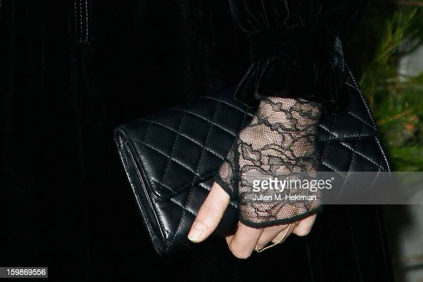 A detail of the Anna Mouglalis bag pictured during the Chanel Spring/Summer 2013 HauteCouture show as part of Paris Fashion Week at Grand Palais on...
