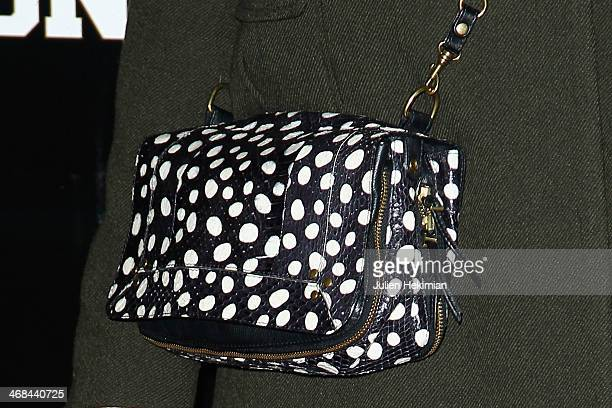 A detail of the Anne Marivin's bag pictured during the 'Fiston' Paris Premiere at Le Grand Rex on February 10 2014 in Paris France