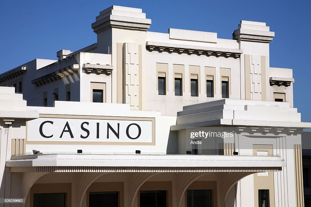 Detail Of The Art Deco Facade Of The Casino In Biarritz