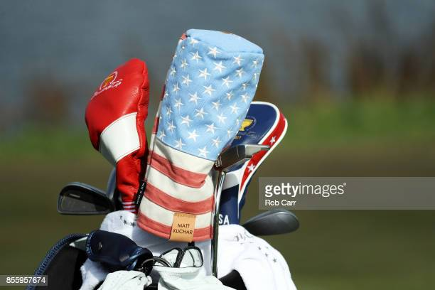 A detail of the bag of Matt Kuchar of the US Team during Saturday foursome matches of the Presidents Cup at Liberty National Golf Club on September...