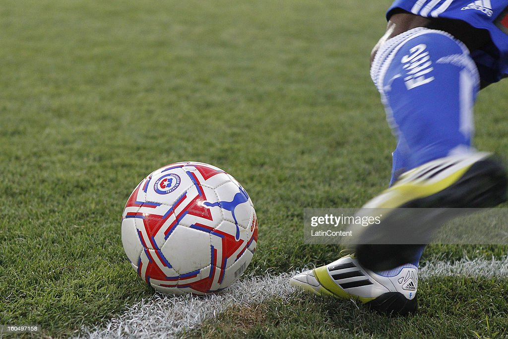 Detail of the ball during a match between Universidad de Chile and Audax Italiano as part of the Torneo Transición 2013 at Santa Laura Stadium on February 01, 2013 in Santiago, Chile.