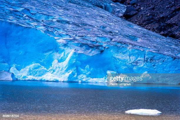 Detail of the Bear Glacier, Bear Glacier Provincial Park along the Stewart-Cassiar Highway 37, British Columbia, Canada