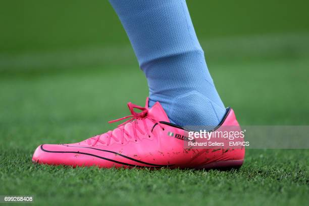 Detail of the boot of Manchester City's Kelechi Iheanacho