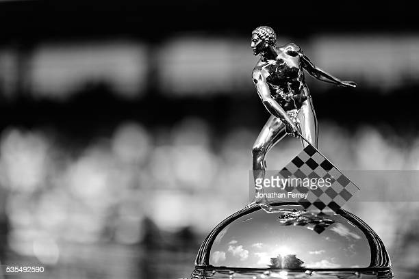 A detail of the Borg Warner Trophy before the 100th Running of the Indianapolis 500 Mile Race at Indianapolis Motorspeedway on May 29 2016 in...