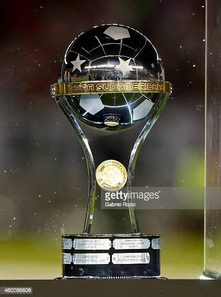 Detail of the Copa Total Sudamericana 2014 trophy before a second leg final match between River Plate and Atletico Nacional as part of Copa Total...
