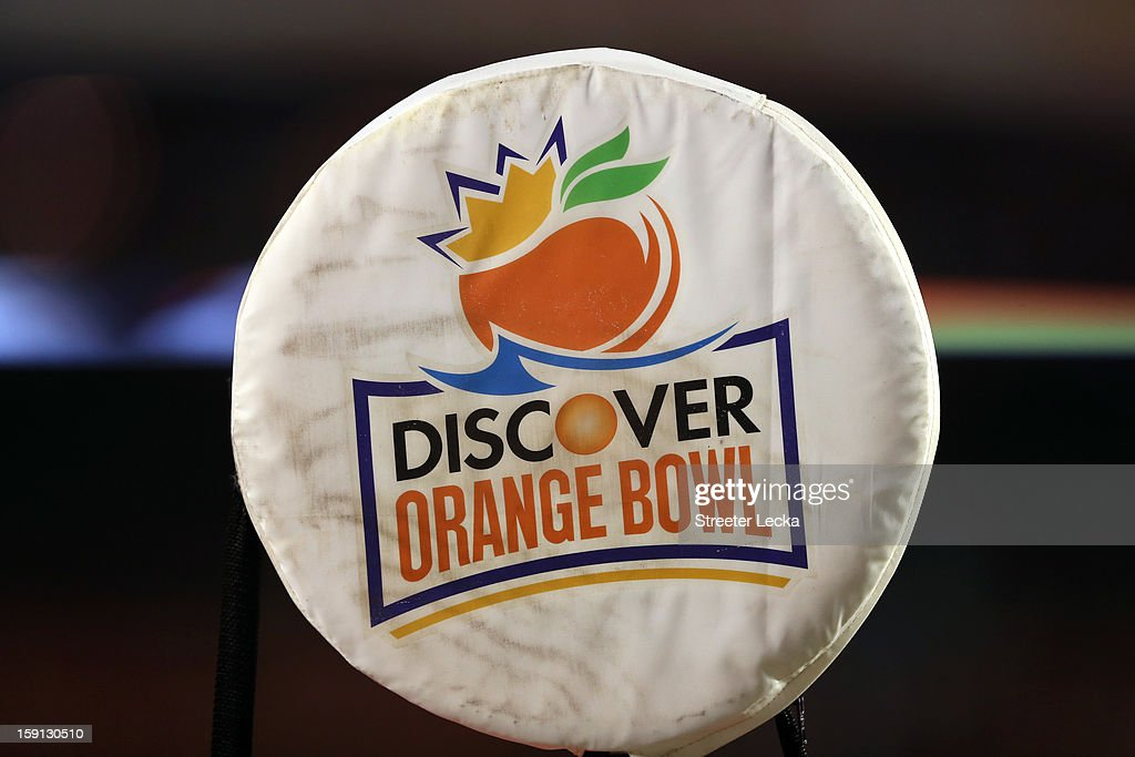 A detail of the cover on top of the down and distance marker as the Florida State Seminoles play against the Northern Illinois Huskies during the Discover Orange Bowl at Sun Life Stadium on January 1, 2013 in Miami Gardens, Florida.