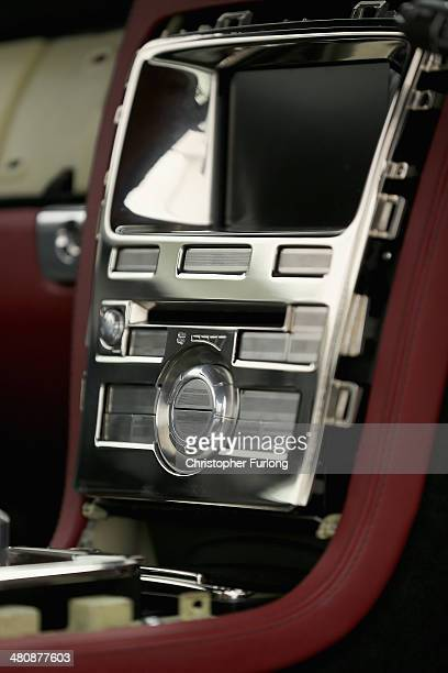 A detail of the dashboard controls of 'Speedback' the new luxury British sports car made by David Brown Automotive on March 20 2014 in Coventry...