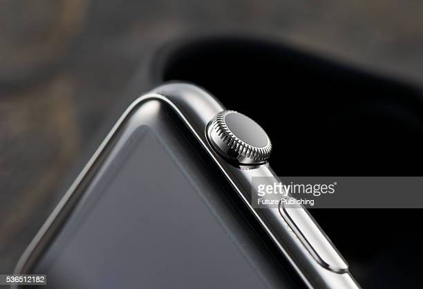 Detail of the Digital Crown on an Apple Watch taken on September 22 2015