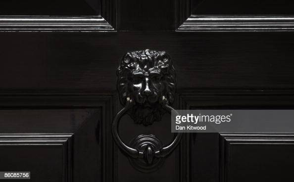 A detail of the door at number 11 Downing Street on April 20 2009 in London England The Chancellor of the Exchequer Alistair Darling's 2009 Budget is...