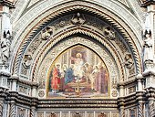 Detail of the facade of the Duomo of Florence