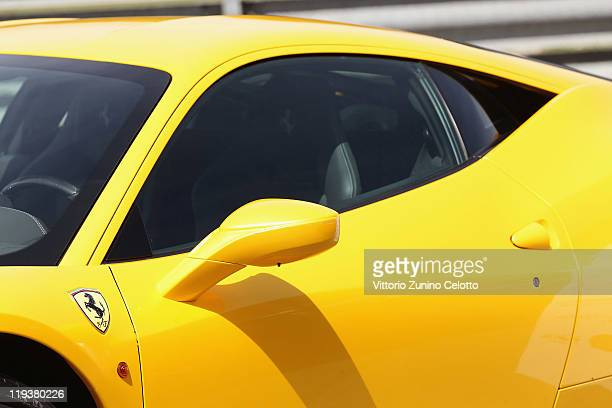 A detail of the Ferrari 458 Italia is displayed on July 19 2011 in Maranello Italy The Ferrari World Design Contest has been launched by Ferrari in...