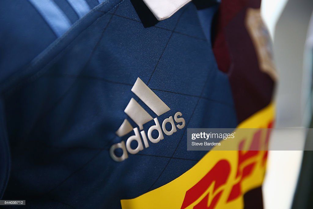 Detail of the Harlequins 2016/17 home kit during the Harlequins 150th Season Launch at Hampstead Cricket Club on July 1, 2016 in London, England.