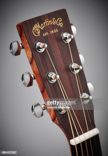 Detail of the headstock on a CF Martin and Co GPCX1AE electroacoustic guitar taken on September 23 2016
