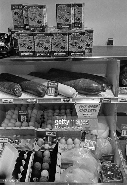 'Detail of the installation The American Supermarket by Robert Watts displayed at Il segno art gallery for the exhibition American Supermarket Eggs...