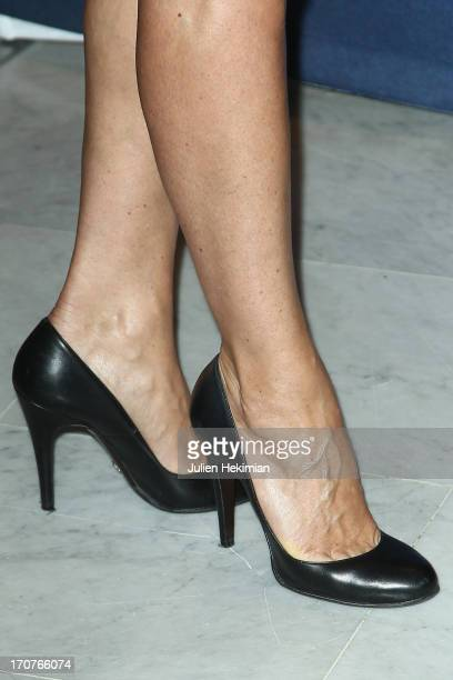 A detail of the Julie Ferrier shoes pictured during 'The Panorama 2013' photocall hosted by Academie des Cesar at UNESCO on June 17 2013 in Paris...