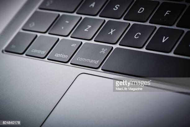 Detail of the keyboard on an Apple MacBook Pro 13inch 2GHz laptop computer taken on November 10 2016