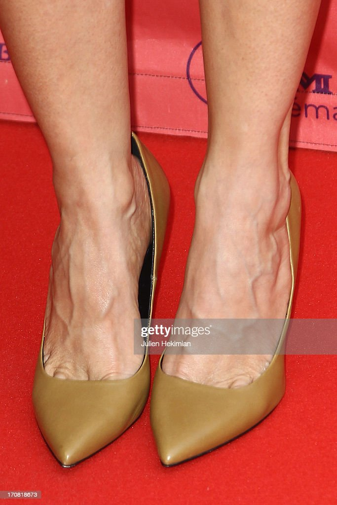 A detail of the Kristen Wiig shoes pictured during the 'Imogene' Paris Premiere As Part of The Champs Elysees Film Festival 2013 at Publicis Champs Elysees on June 18, 2013 in Paris, France.