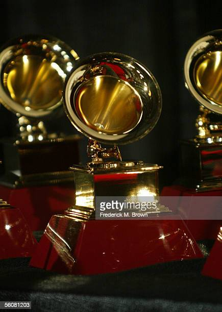 A detail of the Latin Grammy Awards in the press room at the 6th Annual Latin Grammy Awards at the Shrine Auditorium on November 3 2005 in Los...