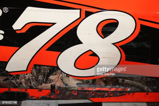 A detail of the Martin Truex Jr driver of the Bass Pro Shops/Tracker Boats Toyota is seen in Victory Lane after he won the Monster Energy NASCAR Cup...