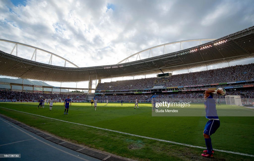 Detail of the match between Cruzeiro and Fluminense as part of Serie A 2012 at Engenhao stadium on November 18 2012 in Rio de Janeiro Brazil