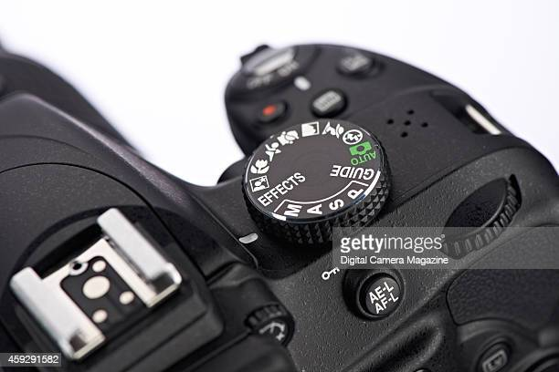 Detail of the Mode Dial on a Nikon D3300 DSLR camera taken on March 28 2014
