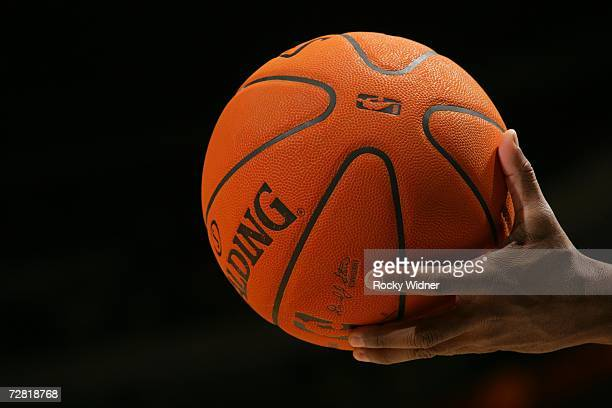 A detail of the new official NBA basketball during the game between the Golden State Warriors against the Milwaukee Bucks on December 2 2006 at...