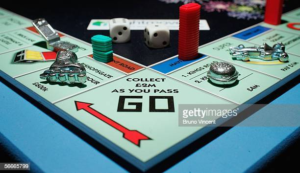 A detail of the new updated Monopoly board game is seen at the London Toy Fair on January 25 2006 in London The Toy Fair held at the ExCeL centre is...