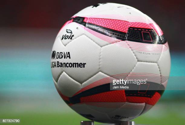 Detail of the official ball prior the third round match between Chivas and Necaxa as part of the Torneo Apertura 2017 Liga MX at Chivas Stadium on...