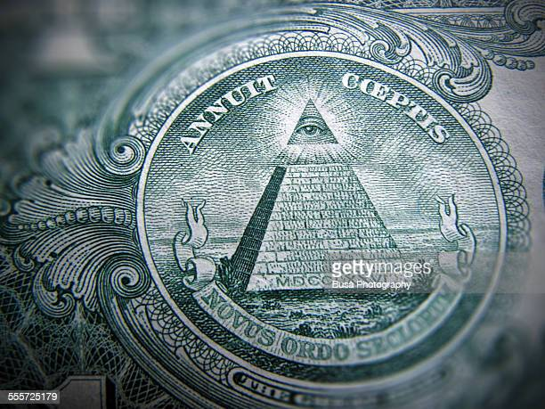 Detail of the one dollar bill