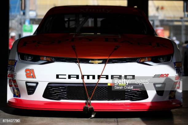 A detail of the Poppy Bank Chevrolet of Daniel Hemric during practice for the NASCAR XFINITY Series Championship Ford EcoBoost 300 at HomesteadMiami...