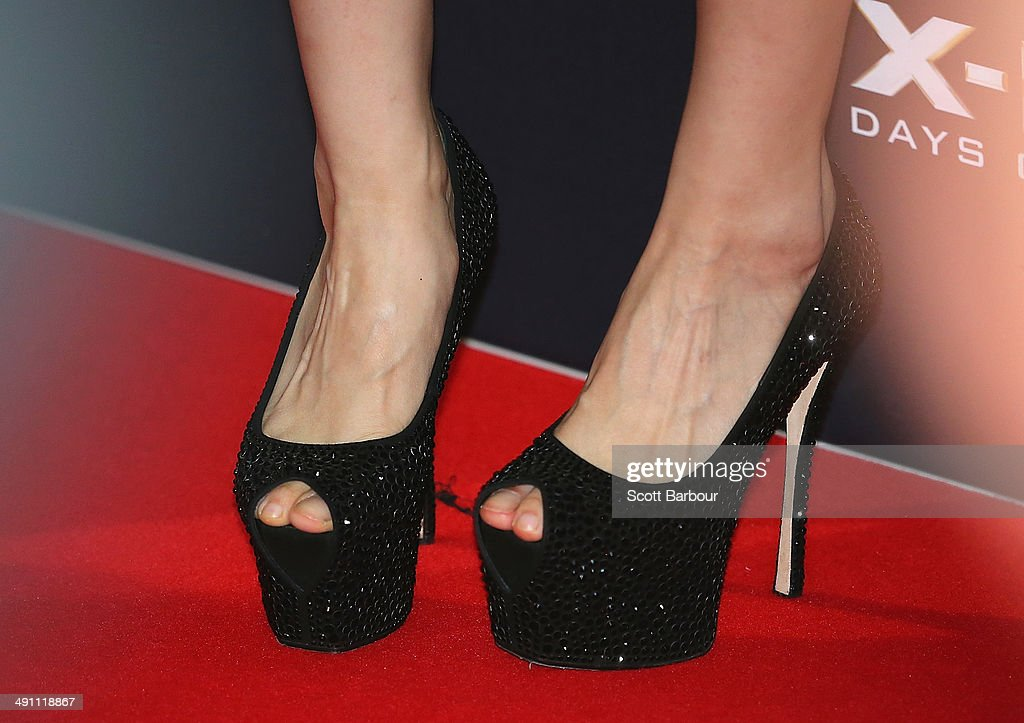 A detail of the shoes of Fan Bingbing as she arrives at the Australian premiere of 'X-Men: Days of Future Past' on May 16, 2014 in Melbourne, Australia.