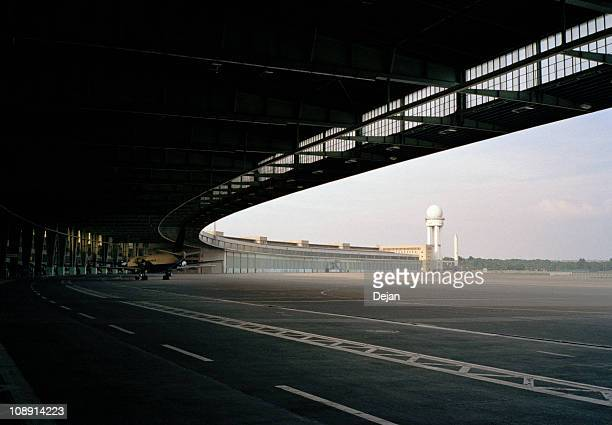 Detail of the terminal building, Tempelhof Airport, Berlin, Germany