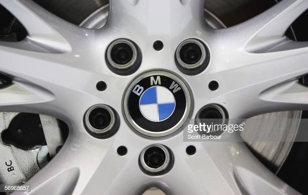 A detail of the wheel of the BMW Z4 M Coupe as it makes its world premiere during the 76th Geneva International Motor Show on February 28 2006 in...