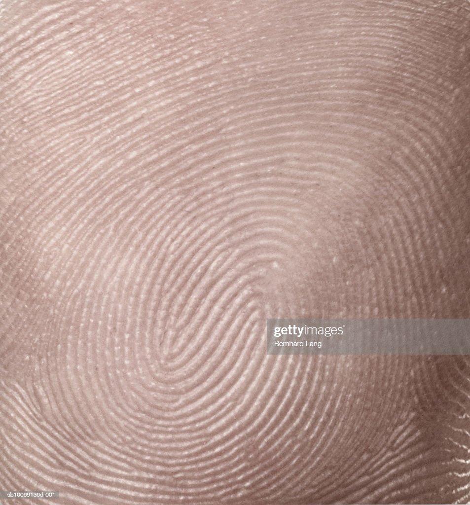 Detail of thumbprint (digital composite) : Stock Photo